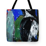 Woodpecker With Prickly Pear Cactus  Tote Bag