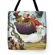 Woodrow Wilson Cartoon Tote Bag