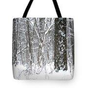Woods In Winter Tote Bag
