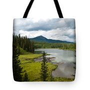 Wood's Lake Summer Landscape Tote Bag