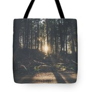 Woods Sunset Tote Bag