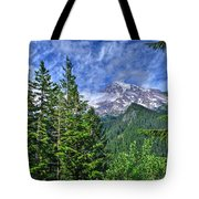 Woods Surrounding Mt. Rainier Tote Bag
