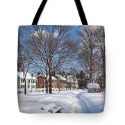 Woodstock Green Tote Bag by Susan Cole Kelly