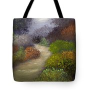 Woodsy Morning Tote Bag