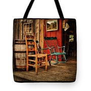 Woodworker's Porch Tote Bag