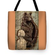 Woof And The Girl Tote Bag