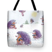 Woolly Snow Hoppers Tote Bag