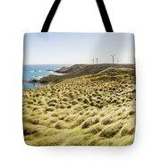 Woolnorth Wind Farm And Ocean Landscape Tasmania Tote Bag