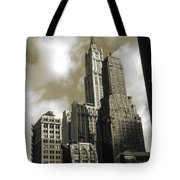 Old New York Photo - Historic Woolworth Building Tote Bag