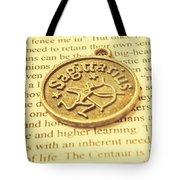 Word Art Of Sagittarius Tote Bag