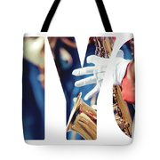 Word Music Red Parade Tote Bag