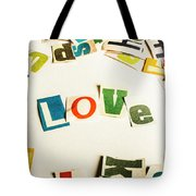Word Of Love Tote Bag