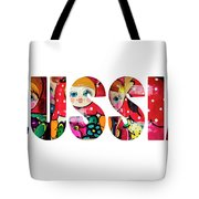 Word Russia Over Traditional Arts Tote Bag