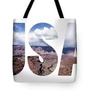 Word Usa Grand Canyon National Park, Arizona  Tote Bag