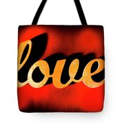Words Of Love And Retro Romance Tote Bag