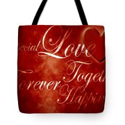 Words Of Love Tote Bag