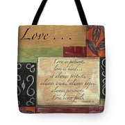 Words To Live By Love Tote Bag
