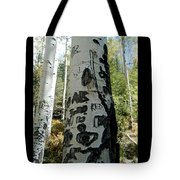 Words Written In The Trees 1 Tote Bag