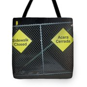 Work Ahead Tote Bag