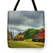 Work Horse Trains 3 Madison Georgia Locomotive Art Tote Bag
