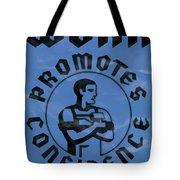 Work Promotes Confidence Blue Tote Bag