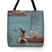 Work These Sails Honey Boothbay Harbor Maine Tote Bag