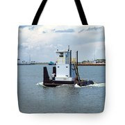 Workboat At Port Canaveral In Florida Tote Bag