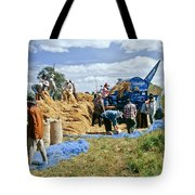 Workers Loading Rice Tote Bag