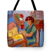 Working At The Former New York State Head Injury Association Tote Bag