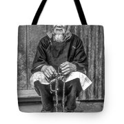 Working Hands Bw Tote Bag