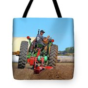 Working His Plow Two  Tote Bag