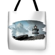 Working Lighthouse Isolated On White Tote Bag