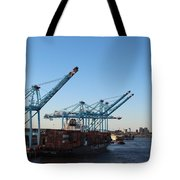 Working The Port Of New Orleans Tote Bag