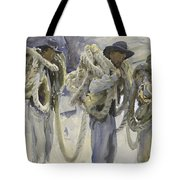 Workmen At Carrara Tote Bag