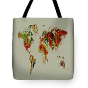 World Map 02a Tote Bag