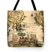 World Map 1707 Tote Bag