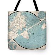 World Map - 1857 Tote Bag