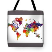 World Map 8 Watercolor Print  Tote Bag