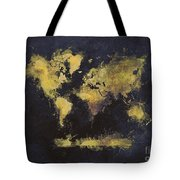 World Map Art 65 Tote Bag