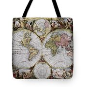 World Map, C1690 Tote Bag