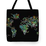 World Map Mandala Feathers 2 Tote Bag