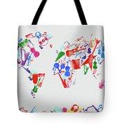 World Map Music 3 Tote Bag