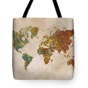 World Map Oriental Tote Bag