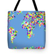 World Map Palette Tote Bag