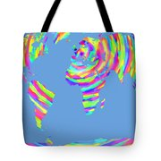 World Map Radial Eurocentric Tote Bag