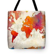 World Map - Rainbow Passion - Abstract - Digital Painting 2 Tote Bag