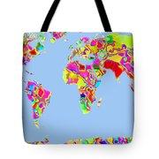 World Map Viscous Tote Bag