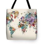 World Map Watercolors Tote Bag