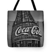 World Of Coca Cola Bw Tote Bag