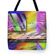 World Of Color And Superimposed Rectangles Tote Bag